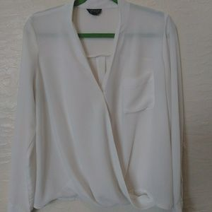 TopShop sheer white shirt size 6US